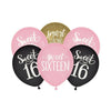 Happy Birthday | Sweet 16 | Latex Balloon Set