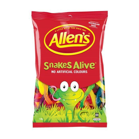 Allens Snakes Alive | 1.3kg | Party Lolly | Bulk Confectionery | The French Kitchen Castle Hill