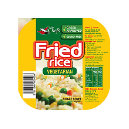 Vegetarian Fried Rice 200g | Allied Chef | The French Kitchen Castle Hill