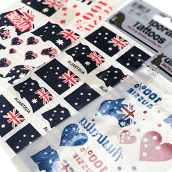 Australia Day Theme | Red & Blue Temporary Tattoos