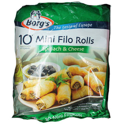 Spinach & Cheese Filo Rolls