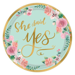 Bridal Shower | Mint Floral | Lunch Plates