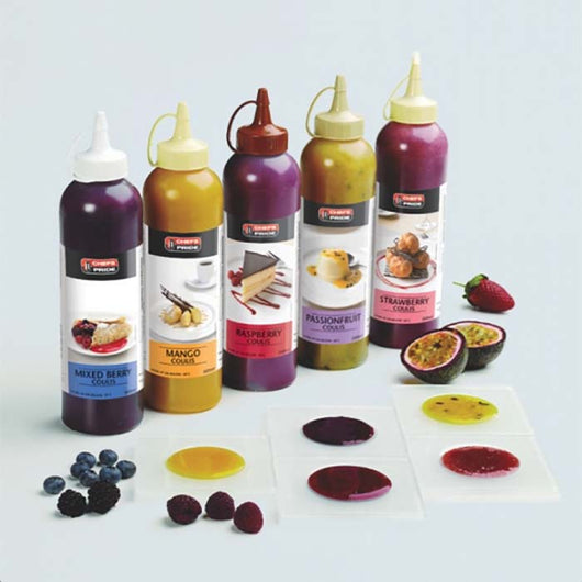 Fruit Coulis | 500ml | Mango, Mixed Berry, Passionfruit & Strawberry | The French Kitchen Castle Hill