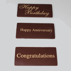 Chocolate Cake Toppers for cakes Happy Birthday, Happy Anniversary & Congratulations