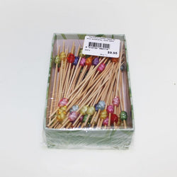 Coloured Bead Cocktail Pick | 100 Pack
