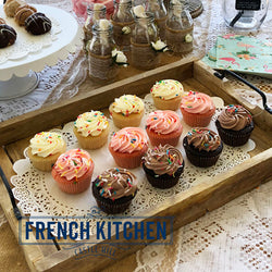 Cupcakes | 16pk | Vanilla, Chocolate & Strawberry | Kids Favourite | The French Kitchen Castle Hill