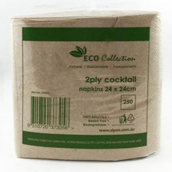 Eco Kraft Cocktail Napkins 250 pk | Shop The French kitchen Castle Hill