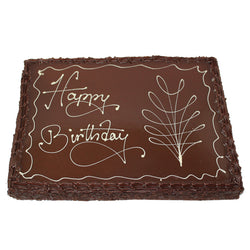 Happy Birthday French Mud Cake Full slab