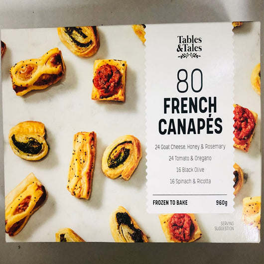 French Canapes | Assorted 80pk