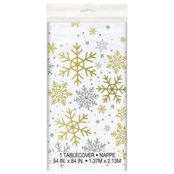 Snowflake Patterned Table Cover