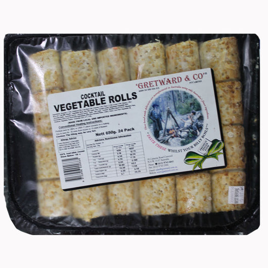 Gretwards Vegetable Cocktail Rolls