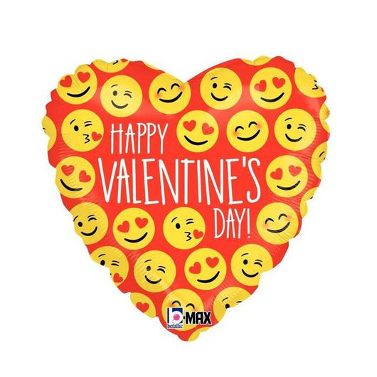 Emoji Valentine's Day Foil Balloons | Limited Stock