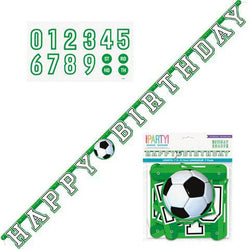 Soccer Jointed Happy Birthday Banner