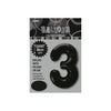 Black Jumbo Number Foils