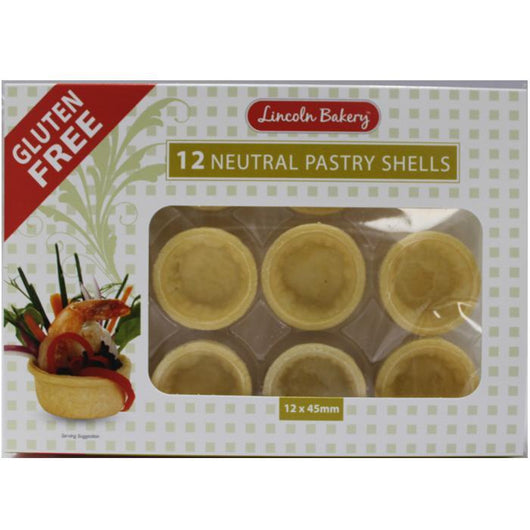 Gluten Free Pastry Shells Sweet 12 Pack (45mm)