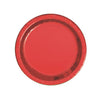 Metallic Red Christmas | Round Paper Plates