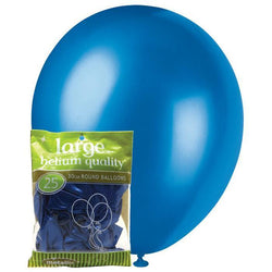 Metallic Blue Balloons