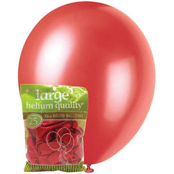 Metallic Cherry Red Balloons
