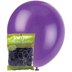 Metallic Purple Balloons