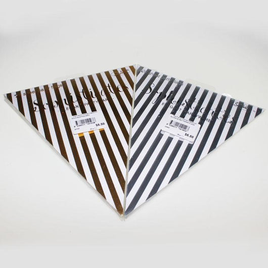 Bunting Party Flags | Metallic Striped