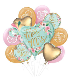 Bridal Shower | Mint Floral | Foil Balloon Set