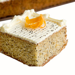 Orange & Poppy seed Slab Cakes | Food & Party Outlet | The French Kitchen Castle Hill