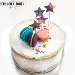 DIY Naked Cakes | Unicorn Holographic Pastel Themed Naked Cake | Vanilla Naked Cake | Naked Uniced Cake | Vanilla Buttermilk Sponge Cake | Shop Naked Cakes @ The French Kitchen Castle Hill