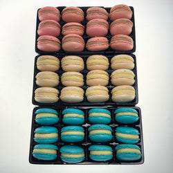 Gourmet Macarons | Blue, Pink & White | High Tea Favourite | The French Kitchen Castle Hill