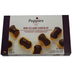 Poppies Mini Eclairs Choc Custard 12pk | Individual Desserts | The French Kitchen Castle Hill