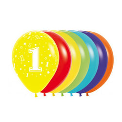 Printed 30cm Latex Balloons | Single Numbers | 1