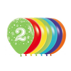 Printed 30cm Latex Balloons | Single Numbers | 2