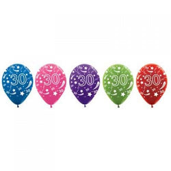 Printed 30cm Latex Balloons | Double Numbers | 30