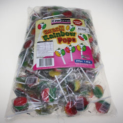 Rainbow Lolly Pops 200  pk -great for your party, loot bags, lolly jar. See our great range with helpful staff. Open 7 days a week.
