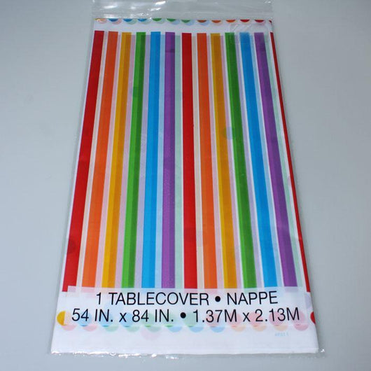 Rainbow Patterned Table Cover