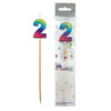 Rainbow Metallic Number Candles