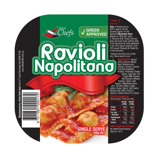 Ravioli Napoletana 200g | Allied Chef | The French Kitchen Castle Hill