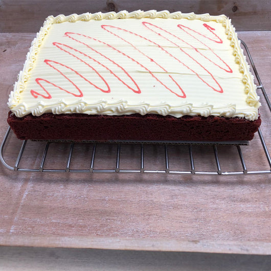 Slab Cakes Red Velvet | Value Cakes | The French Kitchen Castle Hill