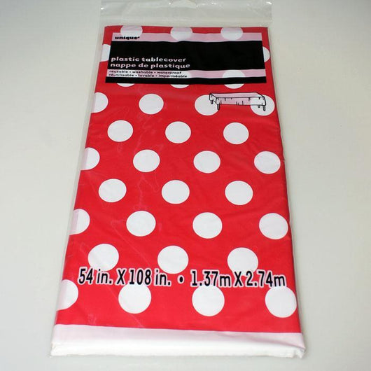 Coloured Table Cover with White Spots