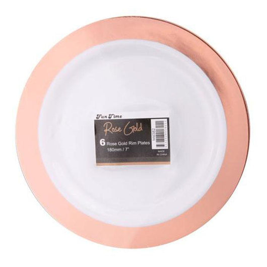 Rose Gold Reusable Plates | 9