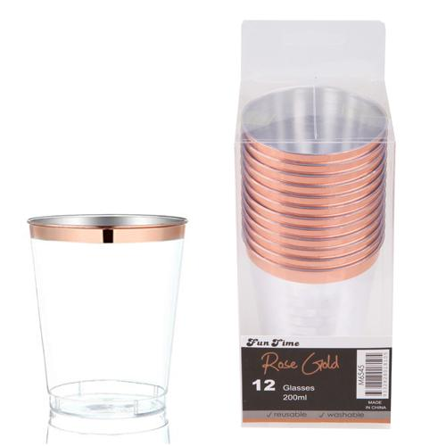 Rose Gold Tumblers Glasses | Reusable | Washable Glasses | Funtime | The French Kitchen Castle Hill
