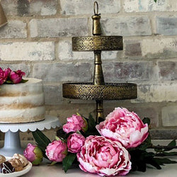 Rustic Gold 3 tier stand | The French Kitchen Castle Hill