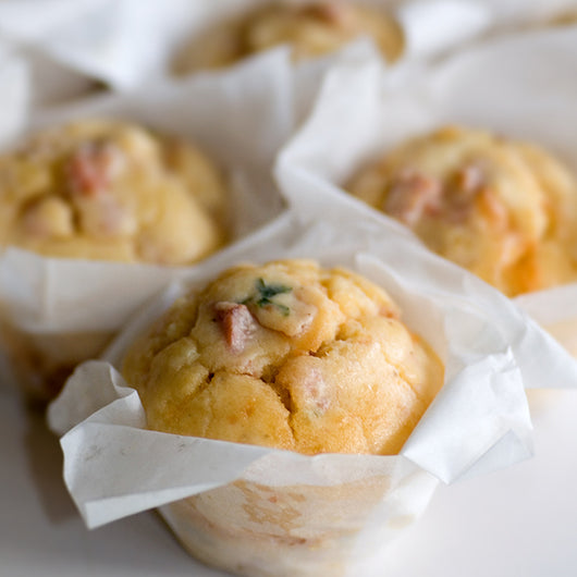 Savoury Muffins- Ham and Cheese