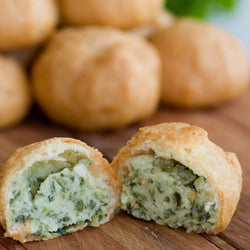 Profiteroles- Savoury Spinach Mornay