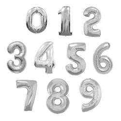 Jumbo Silver Number Foil Balloons 86cm | Now delivering | The French Kitchen Castle Hill
