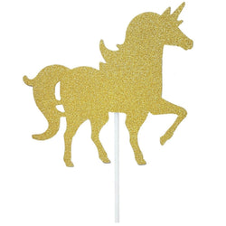 Unicorn | Gold Cake Topper