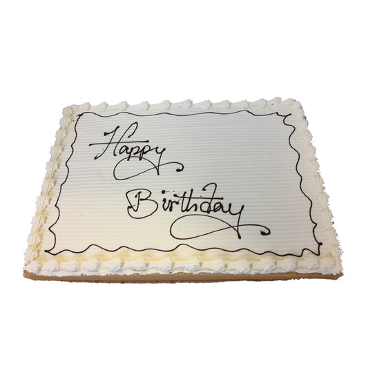 Cool Vanilla Birthday Cake The French Kitchen Castle Hill Funny Birthday Cards Online Overcheapnameinfo