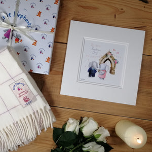 Baby Blanket with Baptism Print & Card