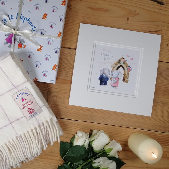 Baby Blanket with Dedication Print & Card