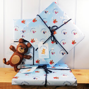 Little Elephants Gift Wrap set