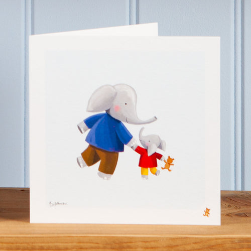 'Walking with Dad' Greetings Card